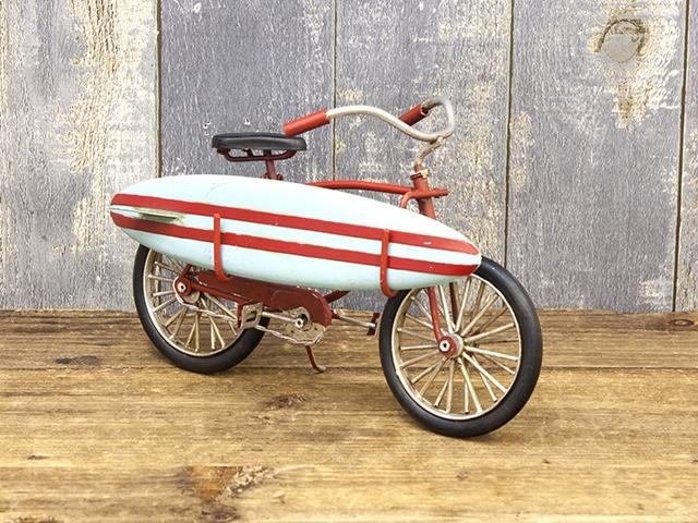 カリフォルニアン サーフバイシクル Surf Bicycle ブリキカー ビーチクルーザー 自転車ミニチュア アメリカ雑貨 サーフィン