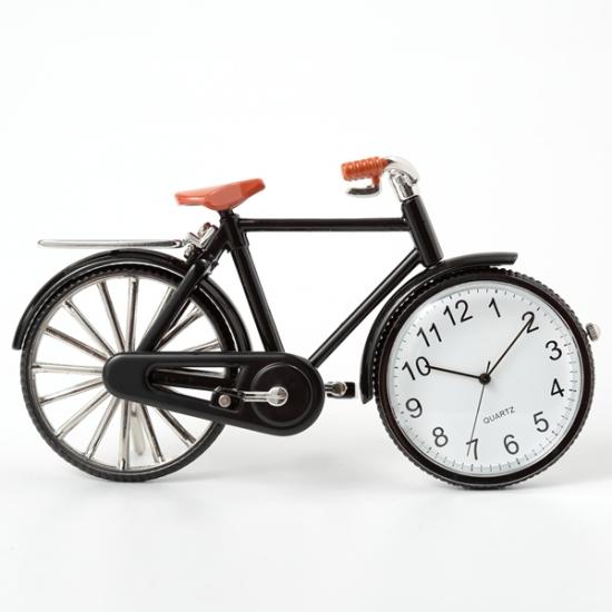 自転車 ミニチュア 時計 クロック 置時計 自転車型 日本製クォーツ おしゃれ アナログ 卓上 インテリア デザイン かわいい モチーフ雑貨