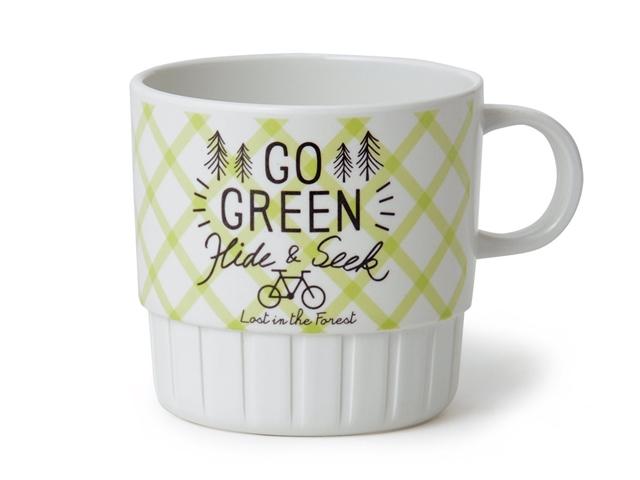 キーストーン(KEYSTONE)ピクニック メラミン スタッキングマグ 自転車柄 プレゼント 食器 コップ おしゃれ 自転車モチーフ雑貨