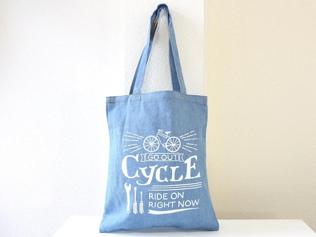 FAVORI デニムポーチ/サイクル/自転車柄/自転車モチーフ/ポーチ かわいい/おしゃれ/大きめ/コスメ/化粧ポーチ/メンズ/レディース