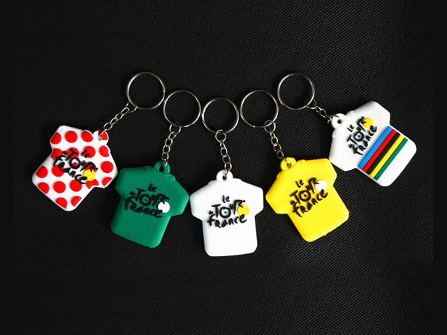 キーホルダー 自転車 ツール・ド・フランス ツールドフランス ジャージ モチーフ キーリング 自転車柄 自転車モチーフ雑貨 かわいい 水玉