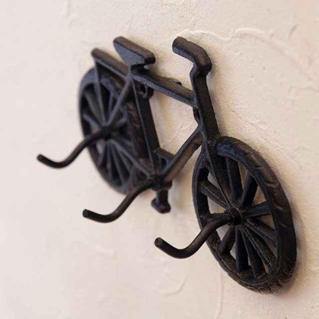 壁掛け アイアン バイシクル フック コベントアイアン トリプルフックBICYCLE Covent Iron  レトロ 自転車フック