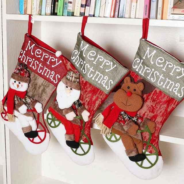 クリスマス・ストッキング クリスマスブーツ 靴下 ソックス サンタ靴下 サンタ 雪だるま トナカイ クリスマス雑貨