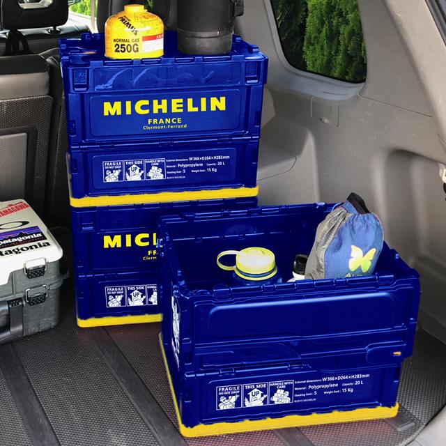 キャンプ レジャー MICHELIN(ミシュラン) 自転車 オリコン スタッキング おしゃれ レトロ 北欧 自転車好き 自転車雑貨