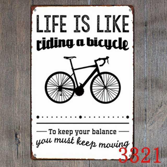自転車柄 ブリキサイン 自転車 ブリキ看板 自転車モチーフ ブリキボード アメリカン 自転車雑貨 アンティークメタルプレート