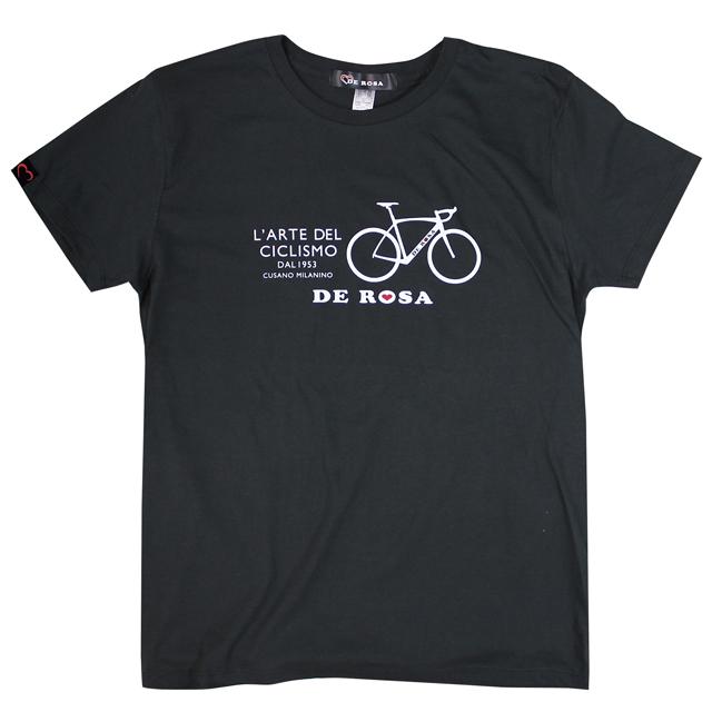 デローザ T-SHIRT/ARCO ブラック ホワイト DEROSA 自転車 ロードバイク Tシャツ 自転車好き プレゼント ギフト