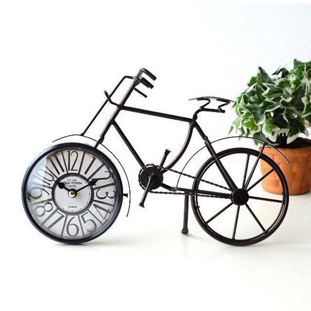 自転車 置き時計 置時計 アナログ おしゃれ 北欧 アンティーク自転車 時計 クロック 卓上 シンプル 文字版 ユニーク 時計