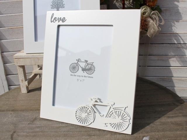 写真立て 自転車/北欧/アンティーク/フォトフレーム/おしゃれ/北欧/プレゼント/自転車モチーフ/自転車雑貨/インテリア/結婚祝い/出産祝い