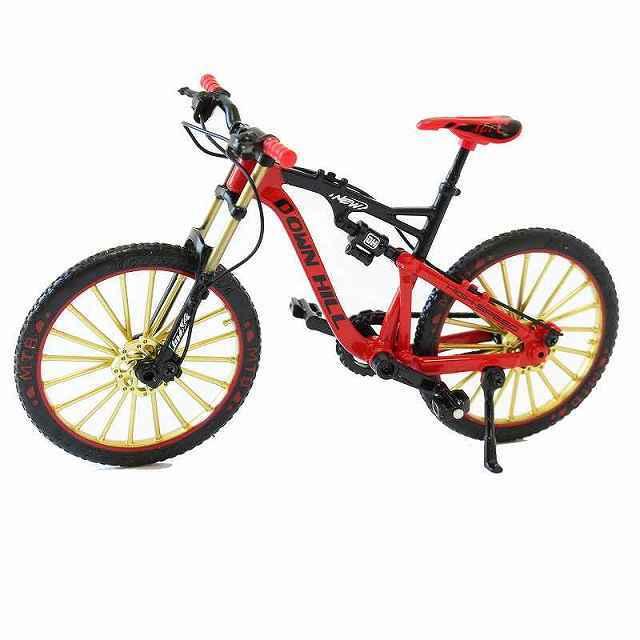 自転車 おもちゃ MTB ダブルサス マウンテンバイク 模型 ダイキャスト 1/10 (レッド) 自転車模型 自転車ミニチュア