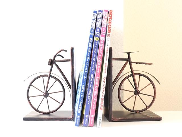 レトロ 自転車 バイシクル ブックエンド ブックスタンド 本立て 卓上 おしゃれ 自転車雑貨  自転車モチーフ アンティーク調 インテリア