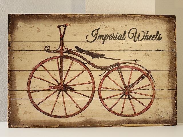 版画 アンティーク自転車版画3 A0050