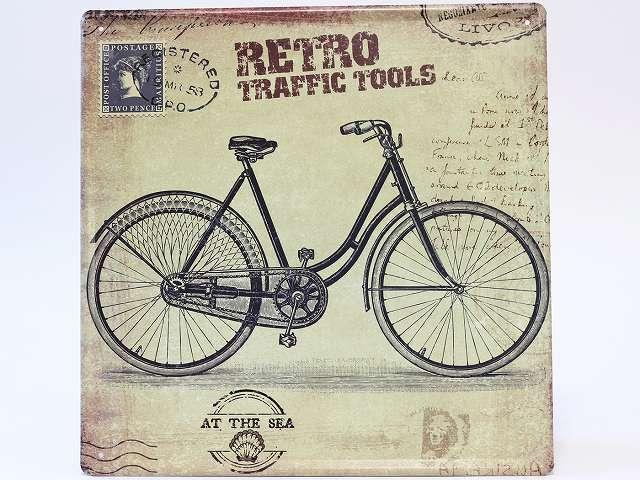 スチールポスター 自転車 北欧 インテリア ロードバイク アンティーク ブリキボード サイン プレード ガレージインテリア アメリカ