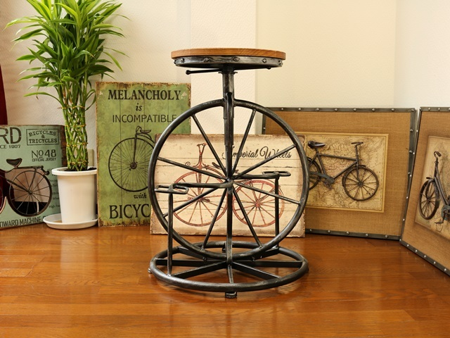 自転車雑貨 自転車インテリア レトロチェア アンティークバイク調
