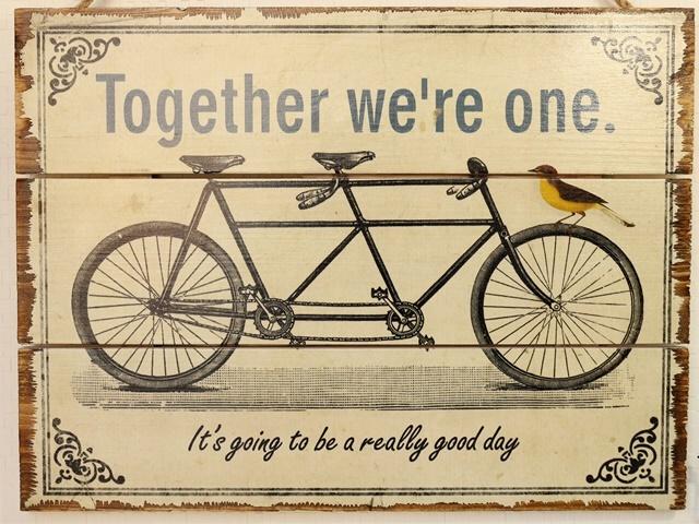 タンデム 自転車/アートパネル 北欧/アートフレーム/自転車看板/自転車の絵/おしゃれ インテリア/アンティーク レトロ 壁掛け