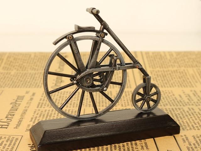 ミニチュア 雑貨/自転車ミニチュア/自転車模型 インテリア小物/置物 オブジェ/自転車/自転車モチーフ/雑貨/モチーフ/ギフト/アンティーク/おしゃれ/自転車雑貨/だるま自転車 ■A0080