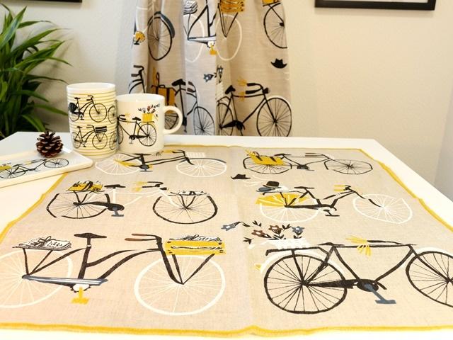 キッチン用品 ナプキン インテリア雑貨 雑貨 キチン雑貨 自転車モチーフ クリスマスプレゼント ギフト かわいい 北欧