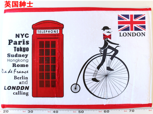 玄関マット 室内/北欧/自転車/自転車柄/自転車雑貨/おしゃれ/ふかふか/洗える/引っ越し/新居/プレゼント/ギフト/イギリス/キッチンマット