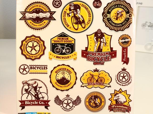 自転車シール,自転車 モチーフ,自転車モチーフ,自転車 柄,自転車柄,バレンタイン 自転車,自転車,車 アンティーク,アンティーク雑貨