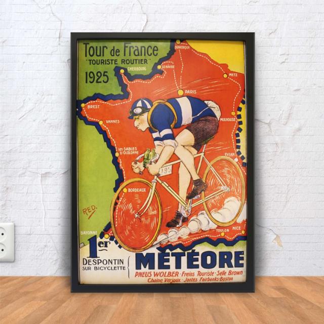 ポスター インテリア おしゃれ 自転車 レース ツールドフランス デザイン 北欧 アートポスター 自転車柄 モチーフ アートパネル 玄関