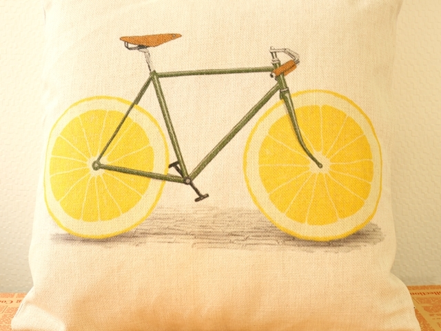 クッションカバー 北欧 45×45 自転車柄/自転車雑貨/クッションカバー アジアン/北欧 雑貨 結婚祝い 引っ越し 誕生日 プレゼント ギフト