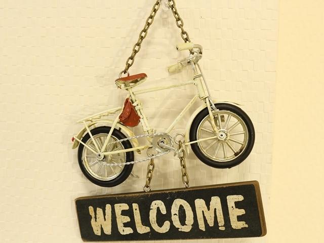 自転車,おしゃれ,雑貨,ロードバイク,模型,自転車モチーフ, ,ミニチュア 自転車 スタンド付き ミニチュア サイン アンティーク,自転車看板