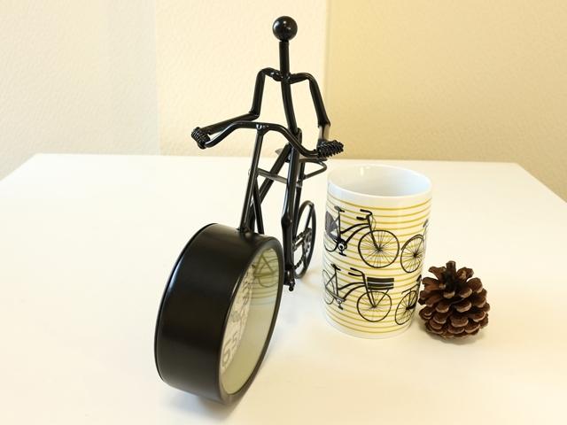 置時計 プレゼント/置き時計 おしゃれ/北欧/アンティーク/レトロ/自転車モチーフ/父の日 ギフト 新築 引っ越し 退職 祝い プレゼント