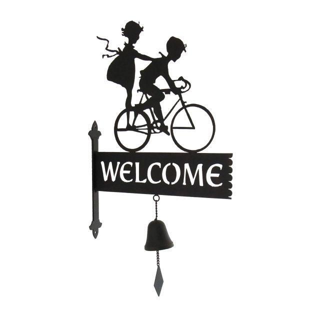 ドアベル おしゃれ/インテリア 雑貨 自転車 ガーデンスティック  ベル/モチーフ/ガーデニング 庭  飾り アンティーク風/ブラケット