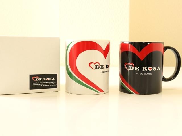 マグカップ 北欧/自転車/デローザ/DeRosa/トリコローレ/コーヒーカップ/ハート柄/おしゃれ/ロードバイク/誕生日プレゼント/ギフト
