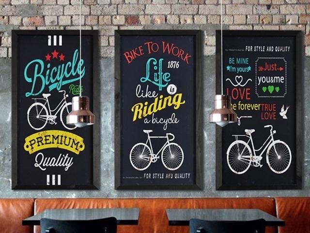 おしゃれ,雑貨,アートフレーム 自転車,アートパネル,自転車看板,自転車の絵,自転車柄,ポスター北欧 ,アンティーク, レトロ,インテリア