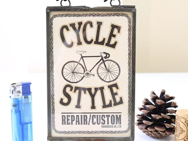 自転車/サインボード/フレームサインアート/サイクル/自転車雑貨/モチーフ/看板/壁掛け/インテリア ディスプレイ ウォールデコ 北欧