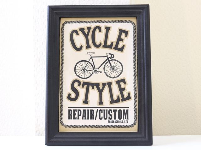 自転車/サインボード/自転車雑貨/自転車モチーフ/北欧/看板/装飾/壁掛け/インダストリアル/メンズ/インテリア ディスプレイ ウォールデコ