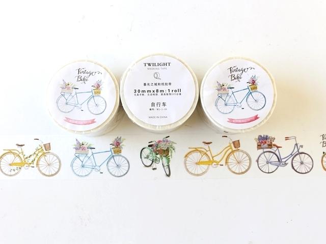マステ,自転車,マスキングテープ mt,自転車柄,masking tape,かわいい,アンティーク,自転車モチーフ,手帳 シール 文房具