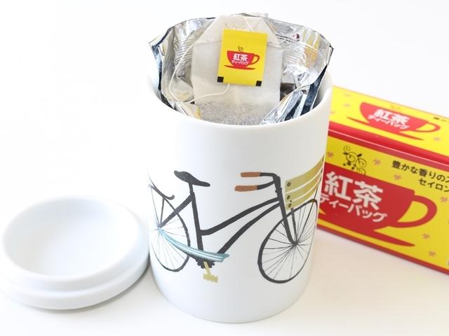 キャニスター コーヒー おすすめ 陶器 自転車柄 自転車 北欧 密閉 保存容器 プレゼント ギフト インテリア おしゃれ カワイイ ダニカ