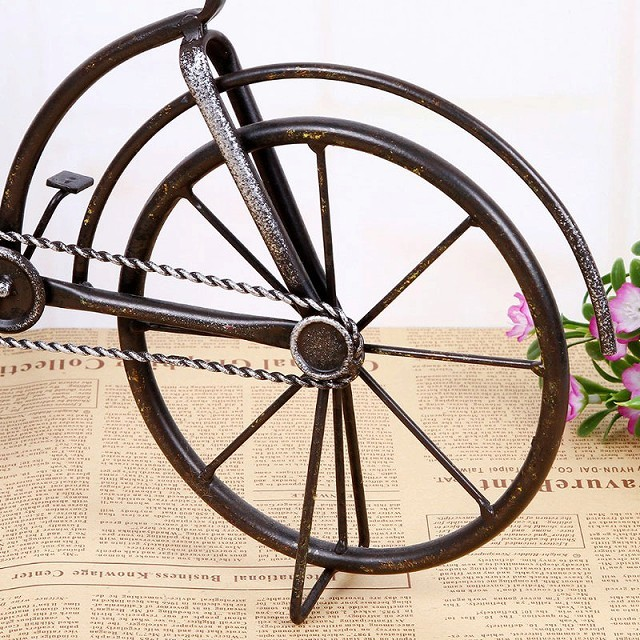 置き時計 レトロデイズクロック BICYCLE バイシクル 自転車時計 アンティーク調 自転車モチーフ BICYCLE バイシクル 北欧