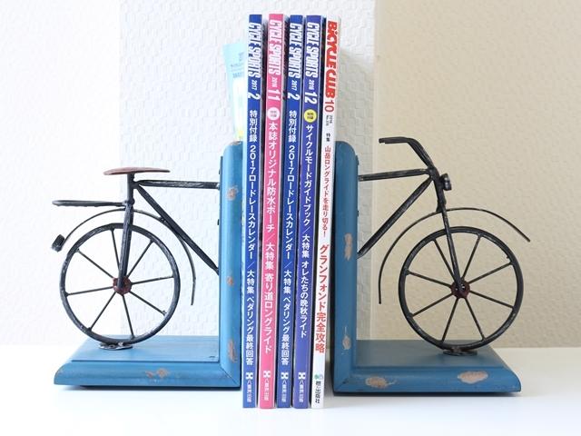 ブックエンド おしゃれ/アンティーク レトロ 自転車/ビンテージ/自転車雑貨/ブックスタンド/本立て 卓上/自転車モチーフ/インテリア/北欧
