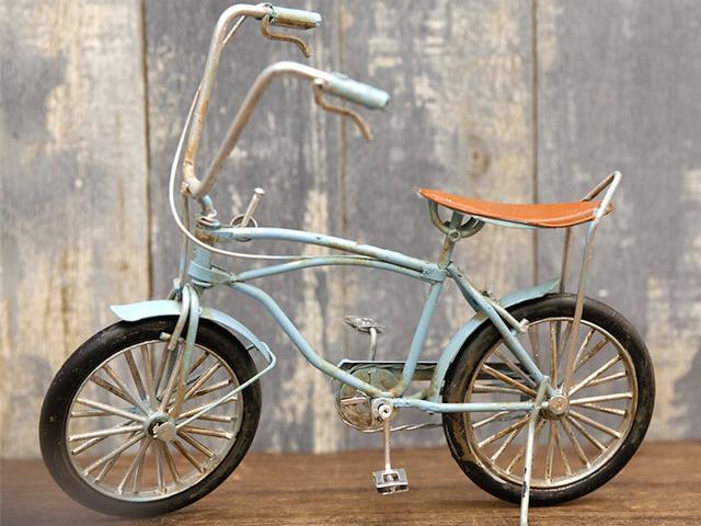 ブリキのおもちゃ アンティーク調 ビンテージカー バイシクル 自転車ミニチュア ガレージ 自転車モチーフ雑貨 フィギュア アメリカ雑貨