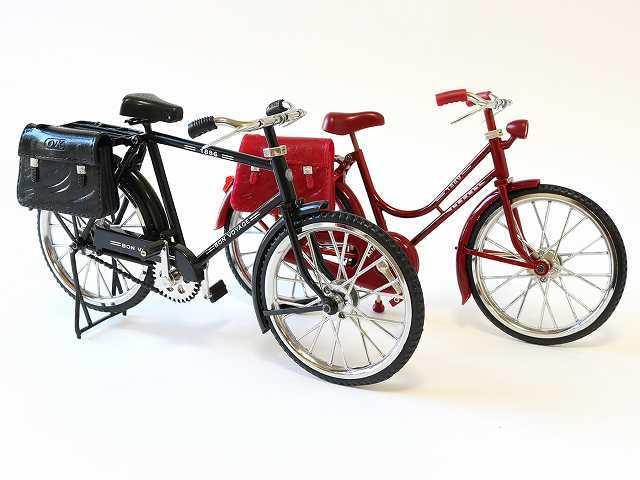 1/6スケール レトロ リアル自転車模型 アンティーク  ドール 撮影 バービー リカちゃん ドルフィー ブリキカー 自転車ミニチュア
