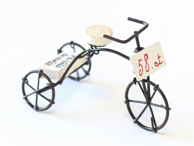 パルクベロー 三輪車 自転車 モチーフ オリジナル ガーデニング 園芸 飾り付け かわいい ミニチュア 雑貨 インテリア アンティーク 家具