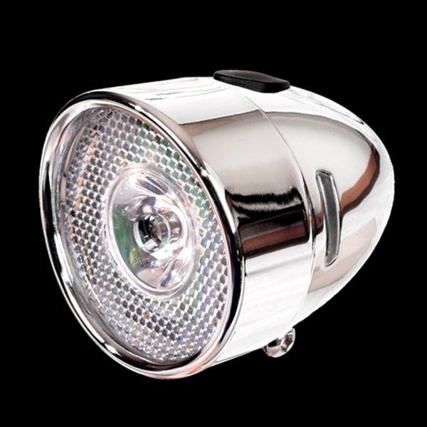 砲弾型LEDライト 自転車 レトロ シンプル 砲弾型ライト クラシック レトロ 素材感 自転車パーツ 小物 チャリ バイク サイクル 街乗り