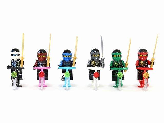 ミニチュア 自転車 ニサイズ サムライ ライダー 模型 子供 おもちゃ フィギュア レゴ(LEGO)シティ のまち シティの人たち バス停留所