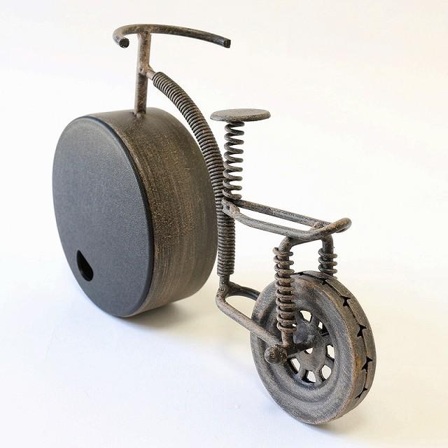自転車 置き時計 北欧 おしゃれ インテリア アナログ クロック 置時計 プレゼント アンティーク レトロ 自転車柄 自転車モチーフ