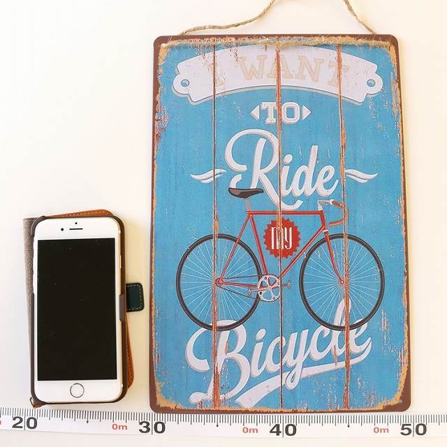 ブリキボード 自転車 自転車柄 スチールポスター 自転車  雑貨 おしゃれ 自転車モチーフ インテリア  ポスター アンティーク  ギフト