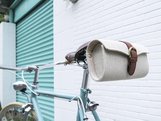 MHL 自転車 サドルバッグ レトロ アンティーク おしゃれ クラシック デザイン 本革 フロント ロールバッグ ロードバイク 700c