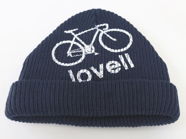 ニット帽 自転車,自転車柄,レディース,メンズ,ニットキャップ,ラベル,lovell,ソフトアクリルワッチ,おしゃれ,ロードバイク,可愛い