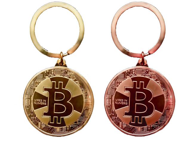 ビットコイン BitCoin 仮想通貨 キーホルダー 自転車 鍵 レプリカコイン モチーフ