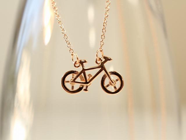 ネックレス プレゼント,ネックレチェーン,ネックレス自転車モチーフ,おしゃれ,誕生日,ロードバイク,シルバー,ゴールド,レディース,メンズ