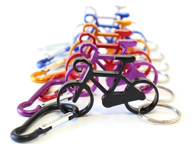 カラビナ キーホルダー 自転車 アルミ キーホルダー メンズ 自転車モチーフ かわいい キーリング レディース バッグチャーム プレゼント