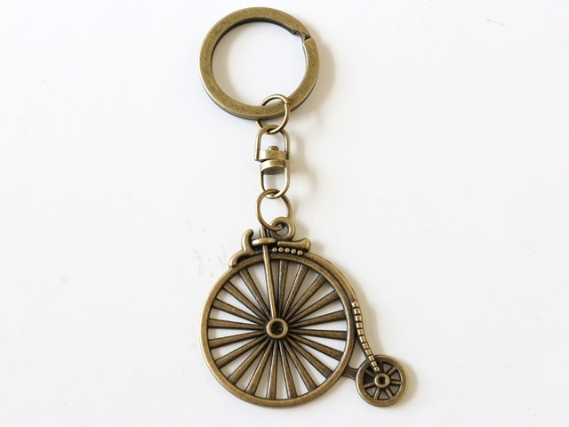 送料無料/キーホルダー自転車(バッグ チャーム レディース パーツ 鍵 ギフト プレゼント) レトロ アンティーク調 ダルマ だるま