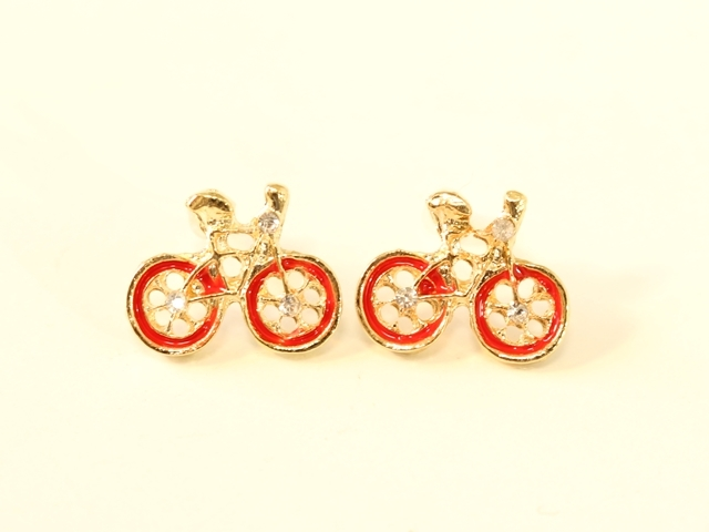 送料無料 ピアス レディース/メンズ/おもしろ/おしゃれ/かわいい/アンティーク/自転車/自転車モチーフ/自転車柄/誕生日 プレゼント