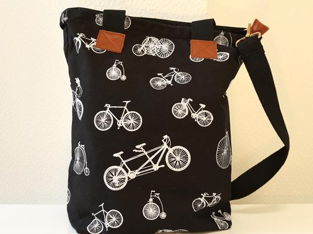 自転車 キャンバストートバッグ,自転車柄,トートバッグ ファスナー付き,トートバッグ,2way トートショルダーバッグ,トートショルダー
